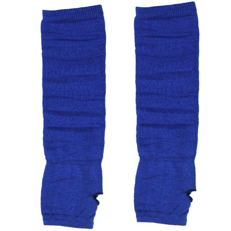 Unique BargainsBlue Elastic Acrylic Thumbless Fingerless Long Gloves for Ladies](Long Blue Satin Gloves)