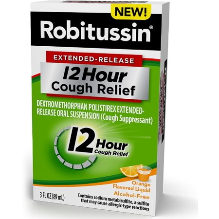 Robitussin Extended Release 12 Hour Cough Relief  Orange 3 Oz