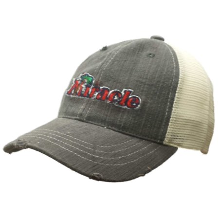 Fort Myers Miracle Retro Brand Gray Worn Vintage Adj Snapback Mesh Hat (The Hut Fort Myers Fl)