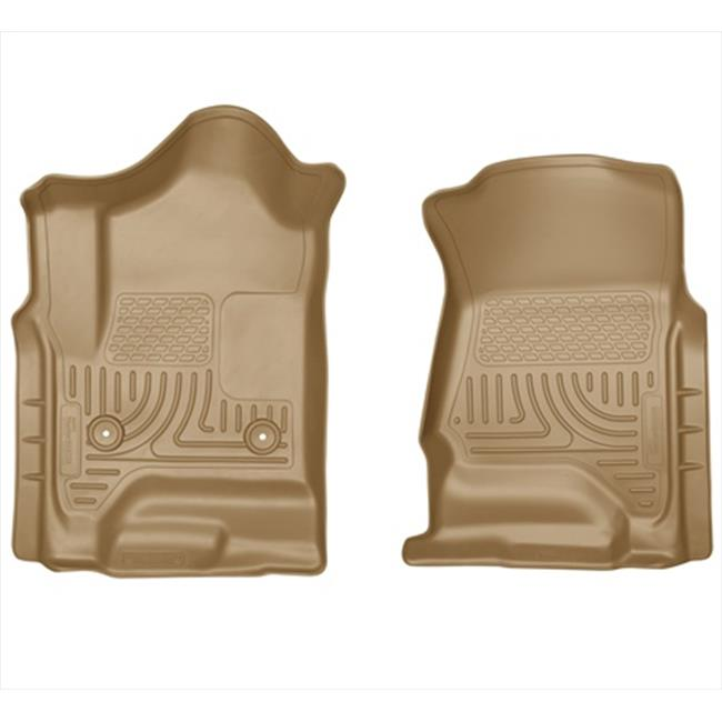 Weatherbeater Series Thermoplastic Olefin Tan Front Floor Liners