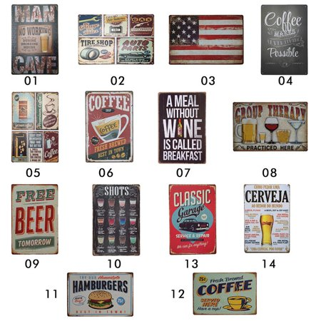 - Retro Metal Tin Sign Poster Plaque Bar Pub Club Cafe Home Plate Wall Decor Art