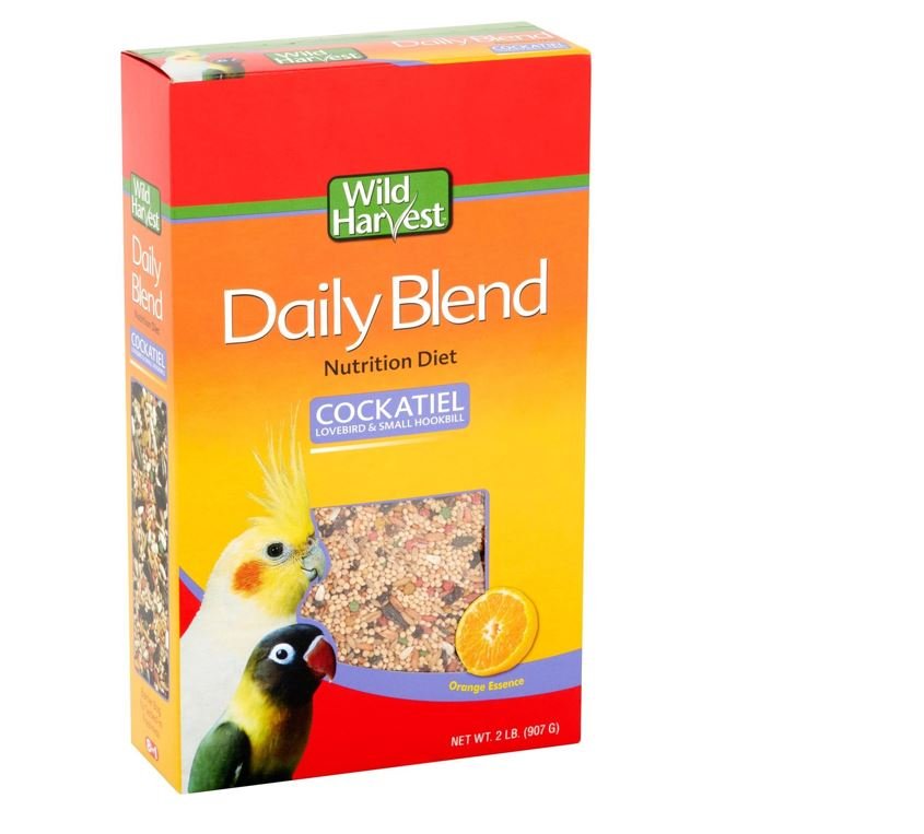Wild Harvest Daily Blend for Cockatiels, Hookbills & Lovebirds, 2 lb