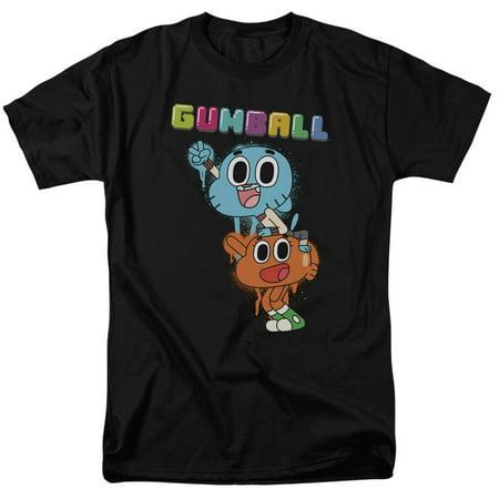 Amazing World Of Gumball Gumball Spray Mens Short Sleeve Shirt