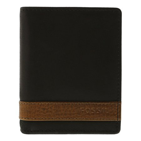 Fossil Men's Quinn Trifold Leather Wallet - (Fossil Store Seattle)
