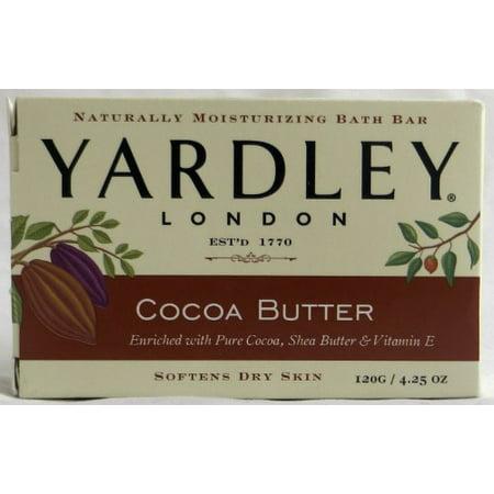 2 Packs Yardley London Naturally Moisturizing Bath Bar Cocoa Butter 4.25 Oz