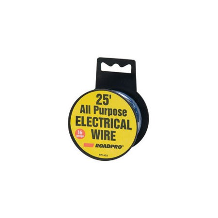 ROADPRO RP1625 16-GAUGE 25 ALL PURPOSE ELECTRICAL WIRE SPOOL