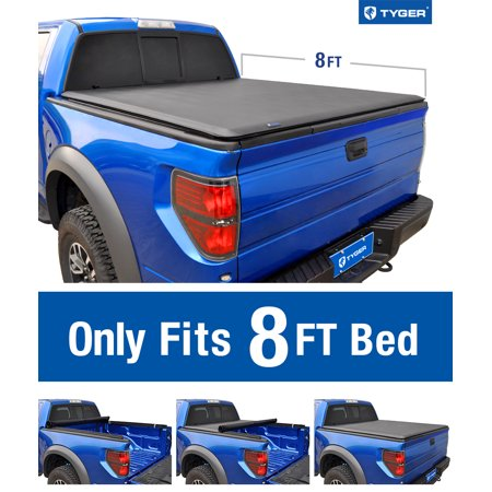 Tyger Auto T1 Roll Up Truck Bed Tonneau Cover TG-BC1D9015 works with 2002-2018 Dodge Ram 1500; 2003-2018 Dodge Ram 2500 3500 | Fleetside 8