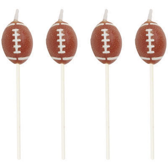 Access Tailgate Rush Football Candles, 4 Ct