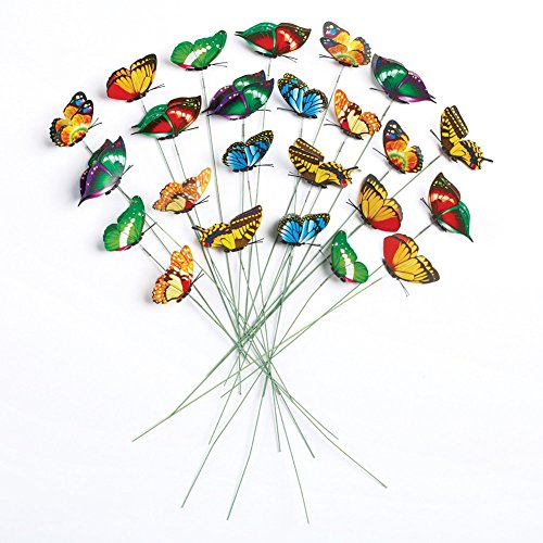 Butterfly Garden Stakes - Set Of 24