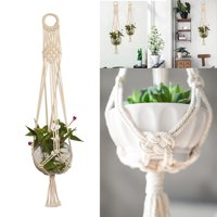 TSV Pot Holder Macrame Plant Hanger Hanging Planter Basket Jute Rope Braided