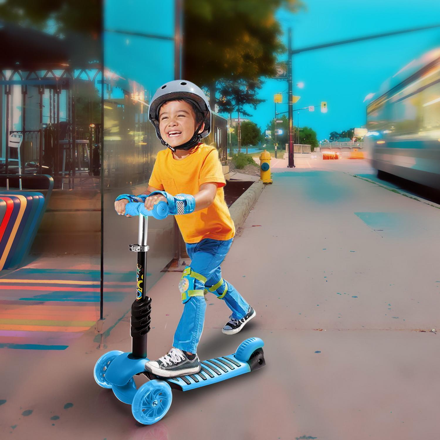 Scooter 3 Wheel Kick Scooter for Kids Boys Girls Adjustable Height PU Flashing Wheels Best... by