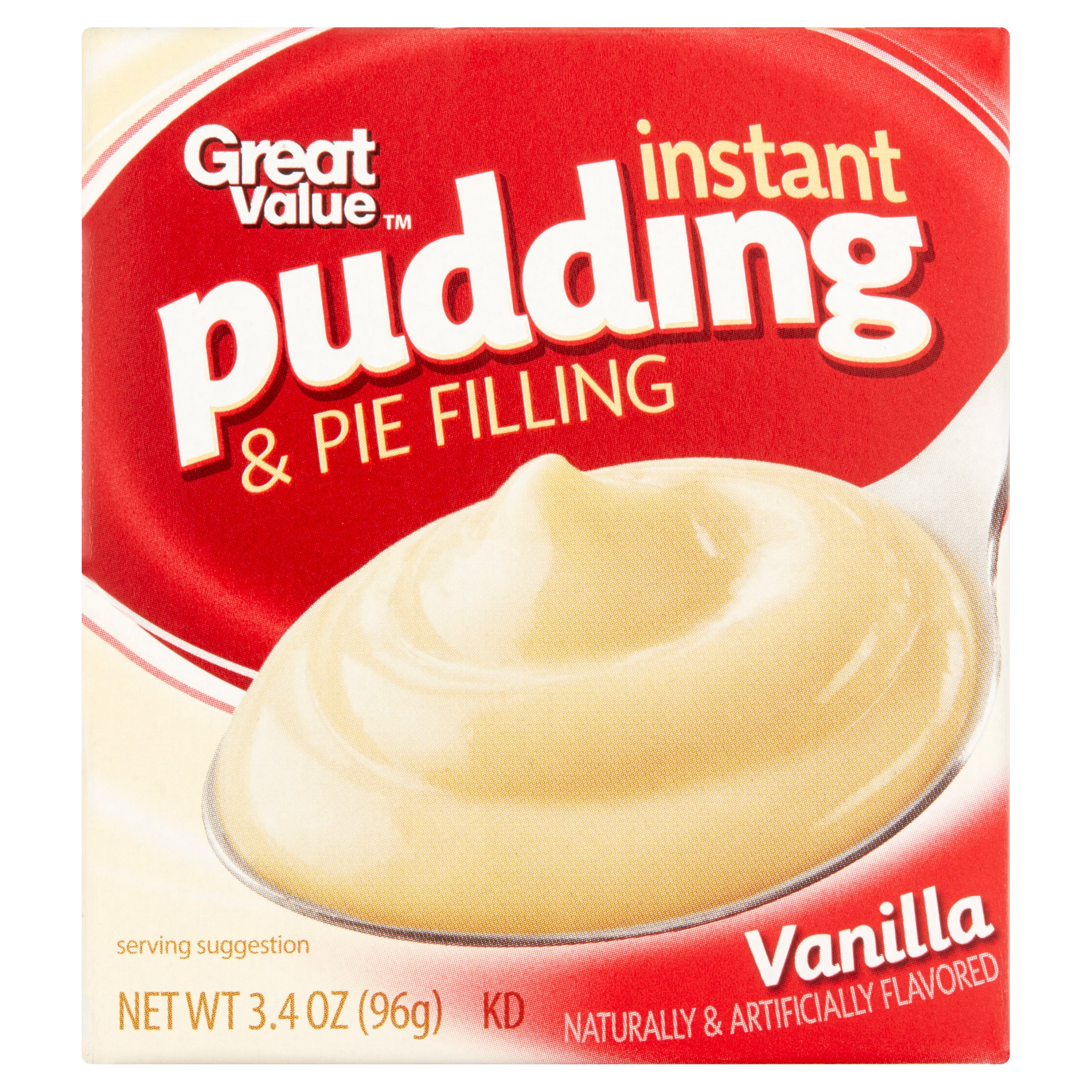Great Value Vanilla Instant Pudding & Pie Filling, 3.4 oz