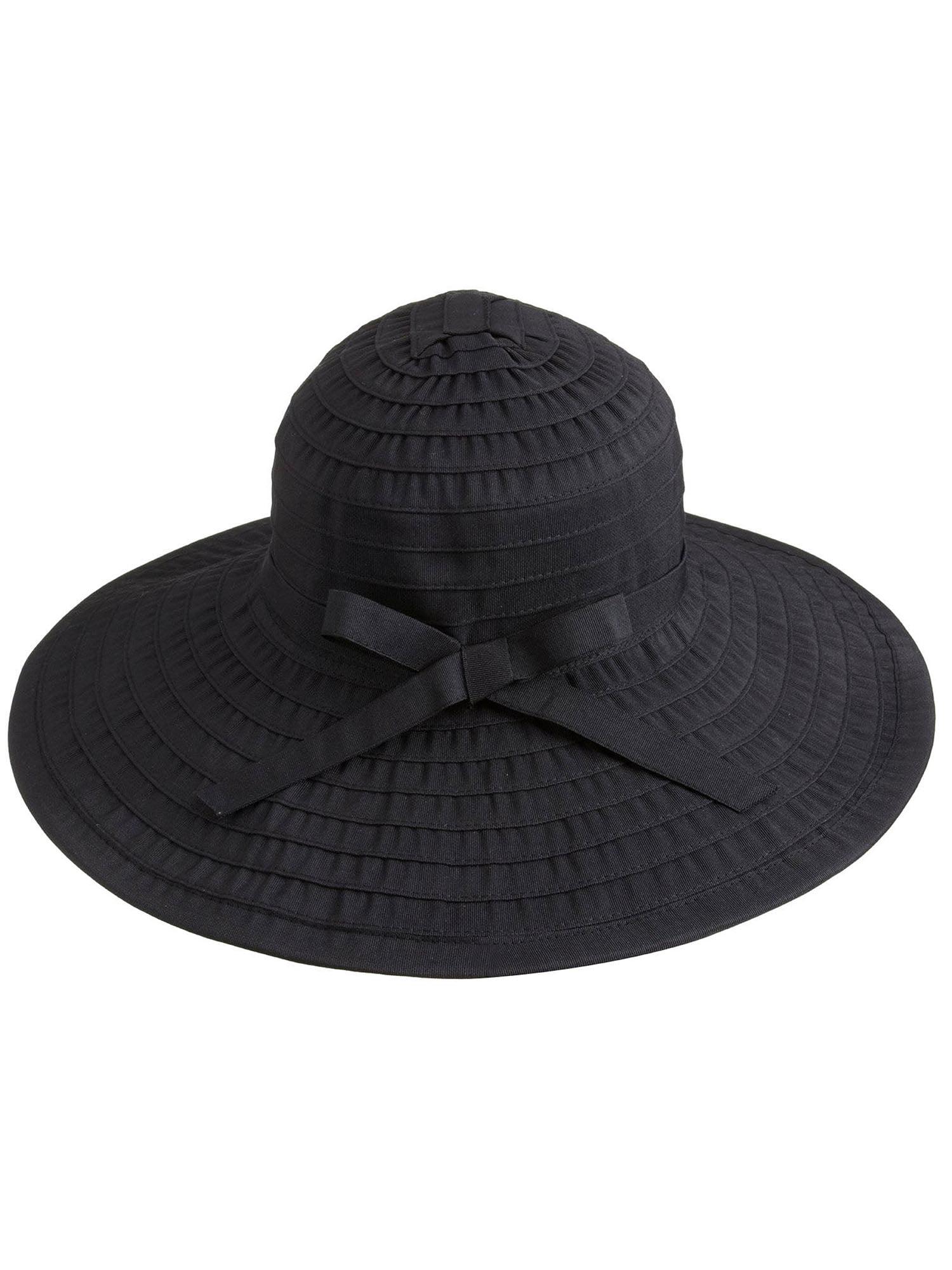 Simplicity - Women s Floppy Large Brim Beach Sun Hat with Ribbon ... 00ef7c6b4c40