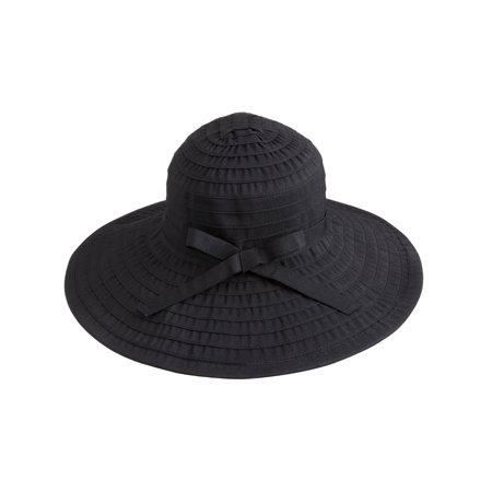 Simplicity - Women s Floppy Large Brim Beach Sun Hat with Ribbon ... 5860fb8ee1e
