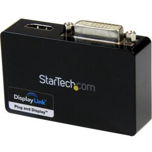 StarTech.com USB 3.0 to HDMI? and DVI Dual Monitor External Video Card Adapter - 1GB DDR2 SDRAM - USB 3.0 MONITOR EXTERNAL VIDEO ADAPTER