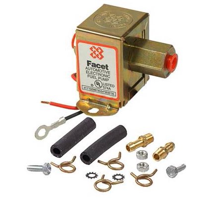 NEW 12V FACET SOLID STATE FUEL PUMP FITS KIT 3-4.5PSI CARBURETED ENGINES FUEL PRIMING ()