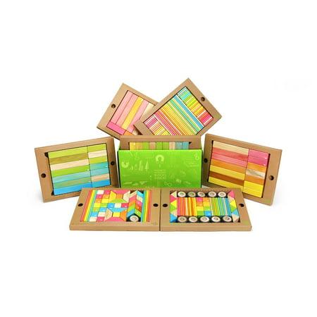 240 Piece Tegu Classroom Magnetic Wooden Block Set, Tints - image 3 of 5