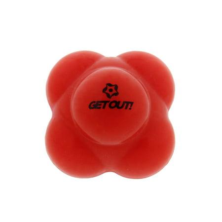 GetOut!™ Baseball Agility Reaction Ball Develops Hand-Eye Coordination (Small Training Baseball)