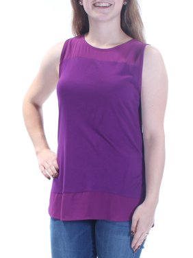 0ad38debdc5db Product Image INC Womens Purple Sleeveless Jewel Neck Hi-Lo Top Petites  Size  M