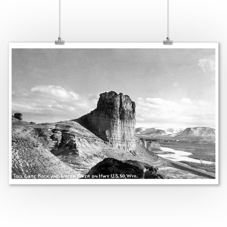 Wyoming   Us Hwy 30 View Of Toll Gate Rock  Green River Photograph  9X12 Art Print  Wall Decor Travel Poster