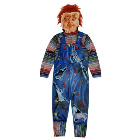Chucky Childs Play Mens Full Zip Costume Union Suit - Chucky And The Bride Of Chucky Costume