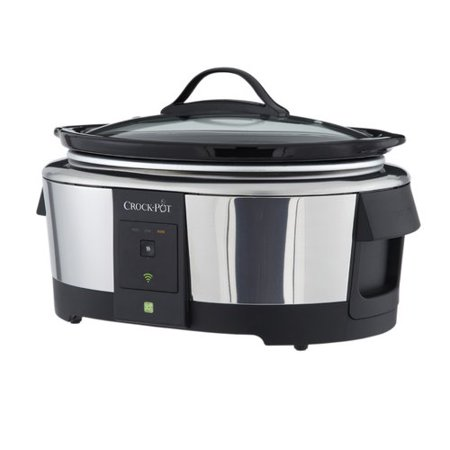 Crock Pot 6 Quart Wifi Controlled Smart Slow Cooker Enabled By Wemo  Stainless Steel  Sccpwm600 V2