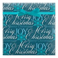 Formal Script Jumbo Rolled Christmas Wrapping Paper - 1 Giant Roll, 23 Inches Wide by 35 feet Long, Heavyweight, Tear-Resistant, Holiday Wrapping Paper