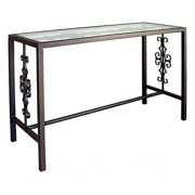 Grace Collection Gothic Console Table w Glass Insert