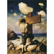 Robinson Crusoe, 1920. /Nillustration, 1920, By N.C. Wyeth. Poster Print by Granger Collection