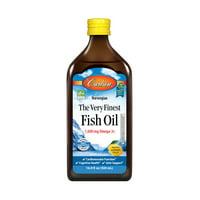 Carlson Omega-3 Fish Oil Liquid, 1600 mg, 16.9 fl oz, Lemon
