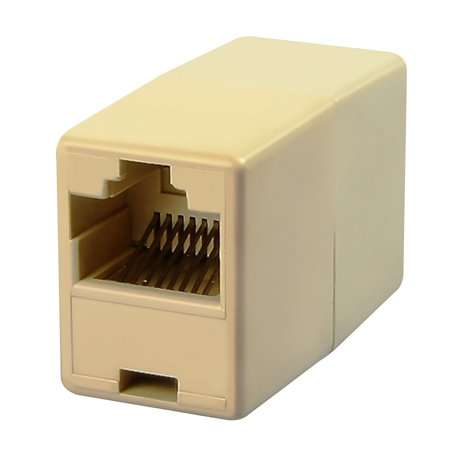 Insten RJ45 Female Cat5e Ethernet Network Connector Adapter Joiner Coupler Light Beige