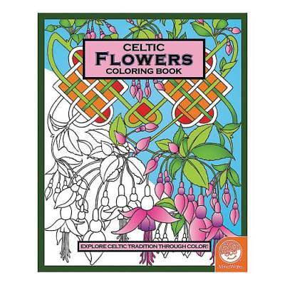 IN-13740976 MindWare Celtic Flowers Adult Coloring Book 2PK