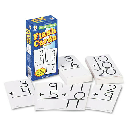 Elementary Education Pack - Carson-Dellosa Publishing Flash Cards, Addition Facts 0-12, 3w x 6h, 94/Pack