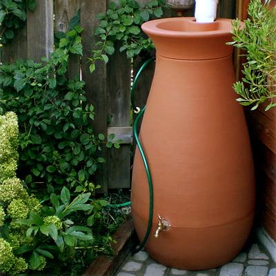 Algreen Cascata 65 Gallon Rain Barrel, Terra Cotta ()