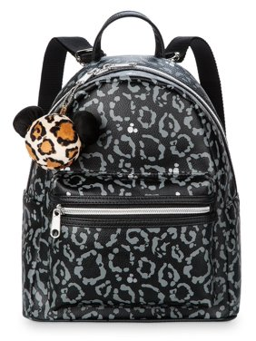 Disney Parks Animal Kingdom Mickey Animal Print Backpack with Charm New with Tag