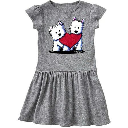 Duo Fancy Dress Ideas (Valentine Westie Duo Toddler Dress -)