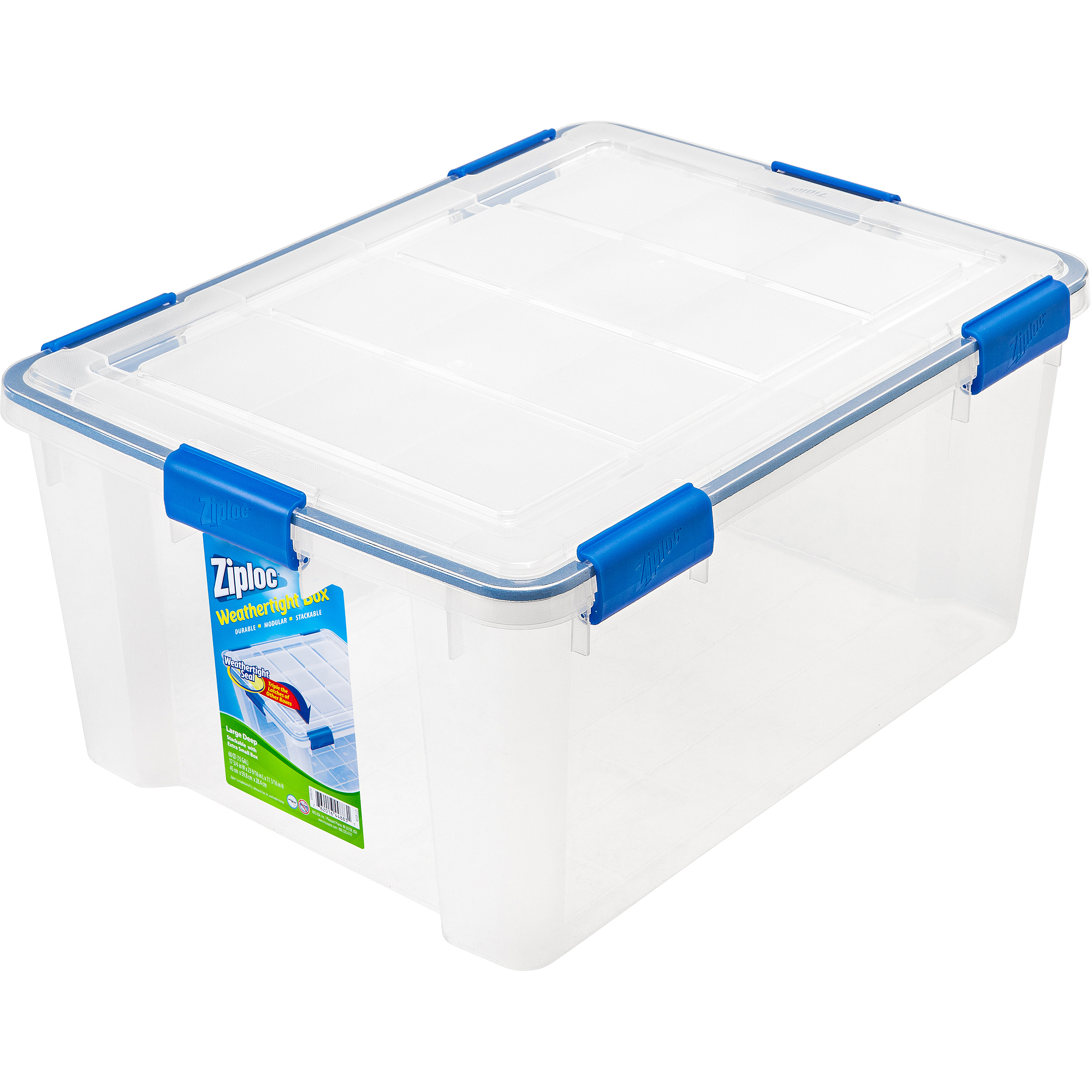 Ziploc 4-Piece Large Deep Weathertight Storage Box Set