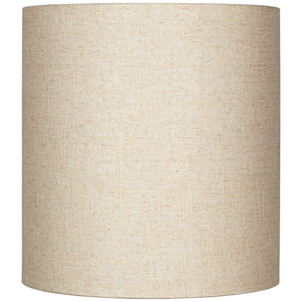 Bwood Oatmeal Tall Linen Medium, Tall Barrel Lamp Shades
