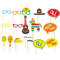 Fiesta Photo Booth Props Party Supply Decoration 17 Pieces