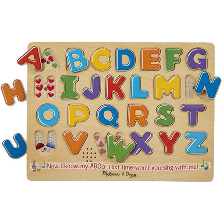 Melissa & Doug 26-Pieces Alphabet Sound Puzzle