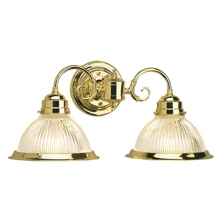 Design House 503029 Millbridge 2-Light Wall Sconce, Polished Brass