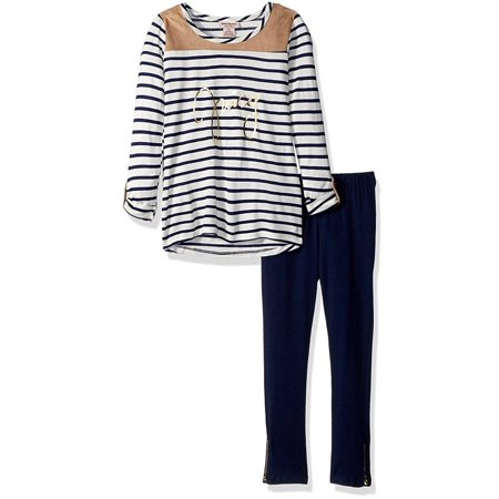 Girls 4-6X Stripe Tunic Legging Set