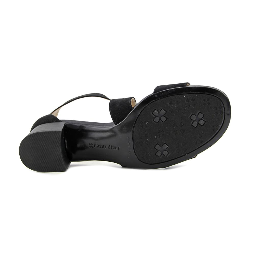 b9b42b8182f Naturalizer - Naturalizer Adele Women Open Toe Canvas Black Sandals -  Walmart.com