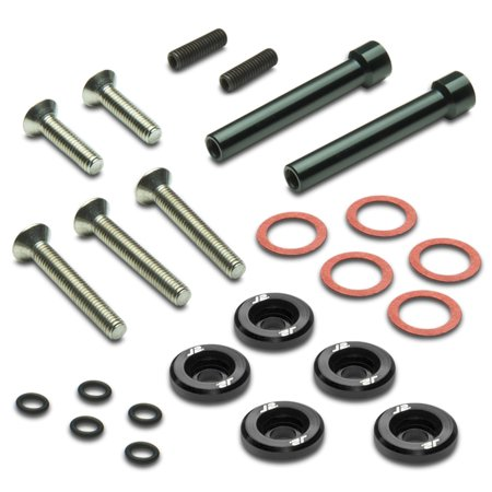 Pack of 5 - J2 Engineering Aluminum Engine Valve Cover Washer+Bolt Kit (Black) - For 88-00 Honda D-Series 95 96 97 98 (5 Engine Valve)