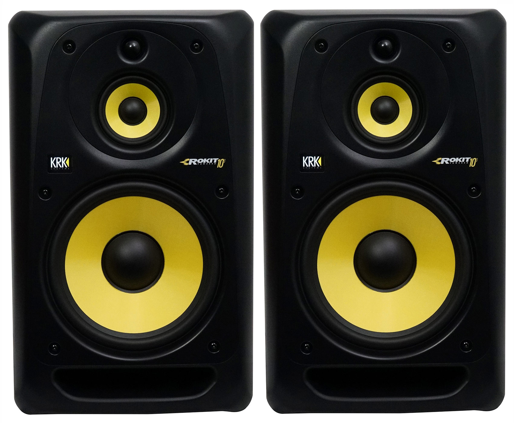 "(2) KRK RP103G3 Rokit 10"" 3-Way Active Powered Studio Monitors Speakers by KRK"