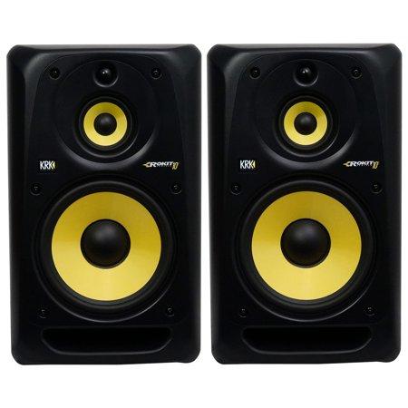 2 krk rp103g3 rokit 10 3 way active powered studio monitors speakers. Black Bedroom Furniture Sets. Home Design Ideas