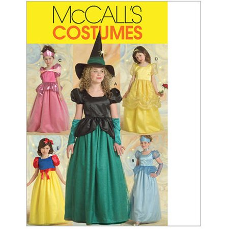 McCall's Children's and Girls' Princess and Witch Costumes, CCE (3, 4, 5, 6) - Children's Halloween Costume Patterns