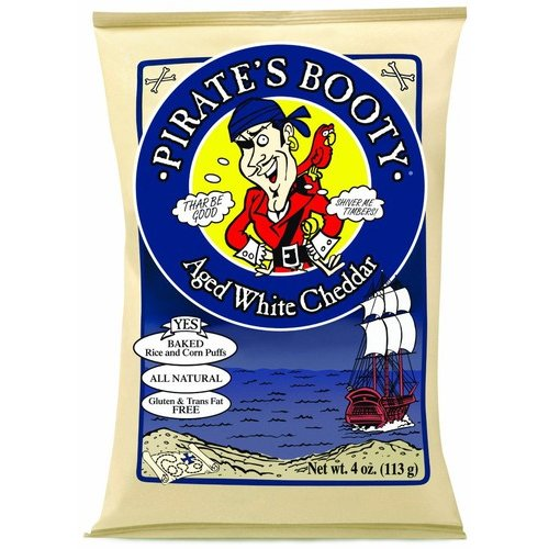 Pirate's Booty Aged White Cheddar Rice and Corn Puffs, 4 oz