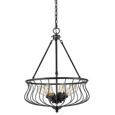 Bel Air Lighting Industrial Basket 4 Light Pendant