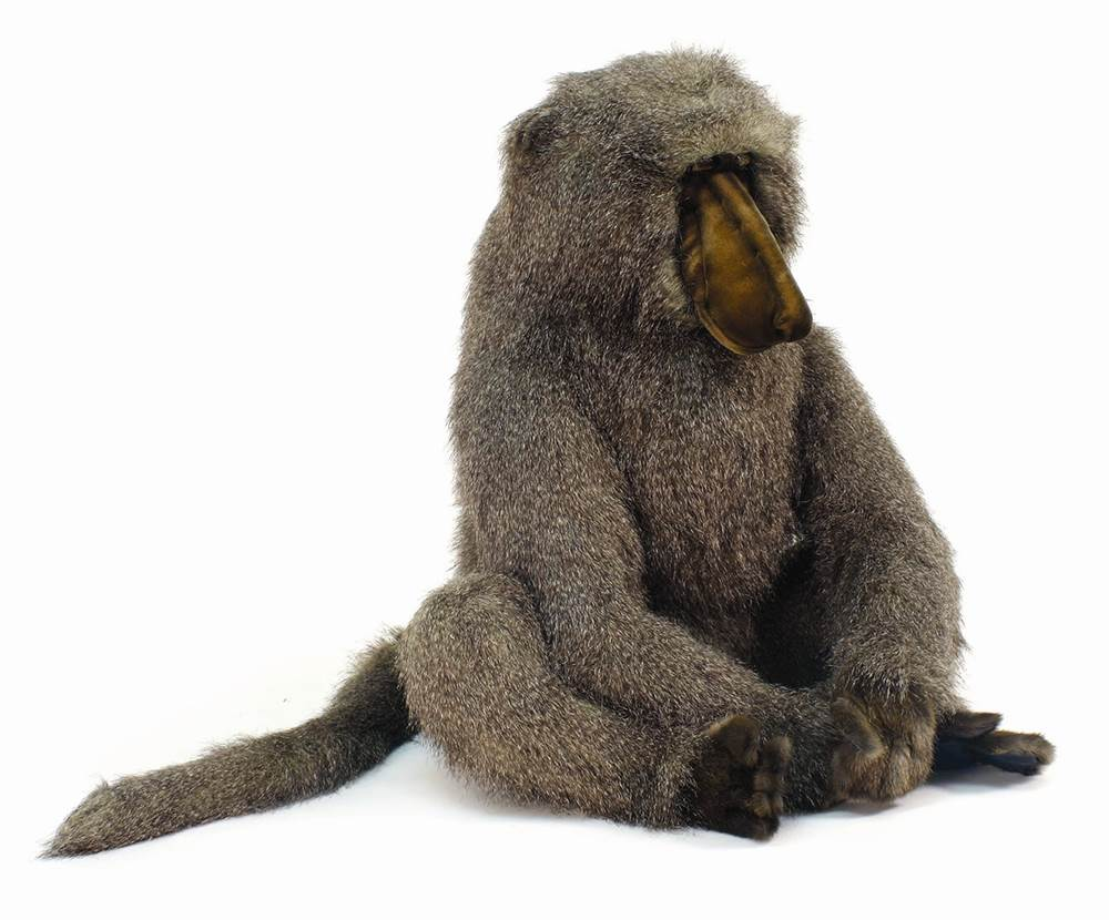 Sitting Large Adult Baboon Plush Stuffed Animal by Hansa Toys USA c/o Mark Roberts Fulfillment